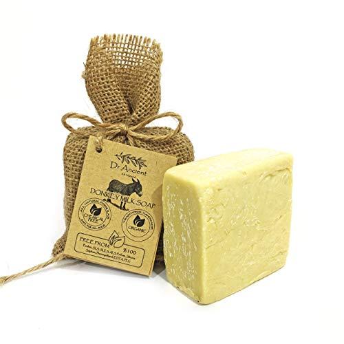 Savon à la lait d'ânesse organique naturel traditionnel fait à la main antique - Anti-âge éclaircissant pour la peau, hydratant - Aucun produit chimique, savon naturel pur!