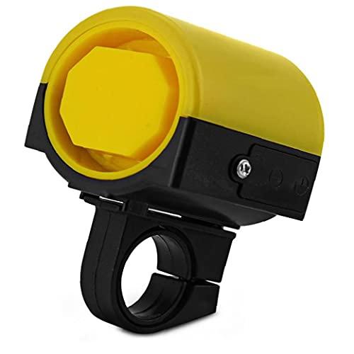 Tuimiyisou Ultra-loud Mtb Road Bicycle Bike Electronic Bell Horn 360 Degree Rotation Cycling Hooter Siren Yellow