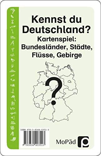 Kennst du Deutschland?: Kartenspiel: Bundesländer, Städte, Flüsse, Gebirge. 3./4. Klasse