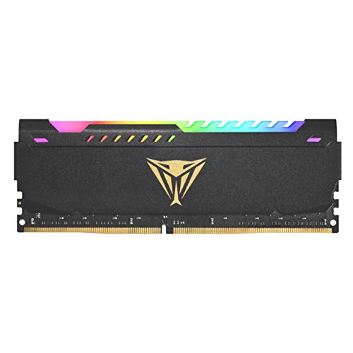 Patriot Memory Viper Steel DDR4 3200 32GB (1x32GB) C16 Módulo LED RGB de Memoria Alto Rendimiento Gris