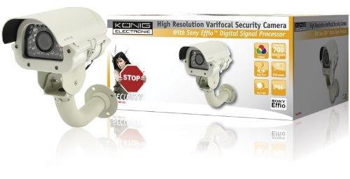 König Hochauflasende Überwachungskamera mit Variabler Brennweite und 35 IR LEDs SEC-CAM735