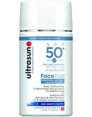 Ultrasun Face Fluid Bright.& Anti-Poll. SPF50+ UV-skydd Fluid, 1-pack (1 x 40 ml)