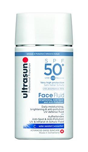 Ultrasun Face Fluid Bright.& Anti-Poll. SPF50+ uv-schutz Fluid, 1er Pack (1 x 40 ml)