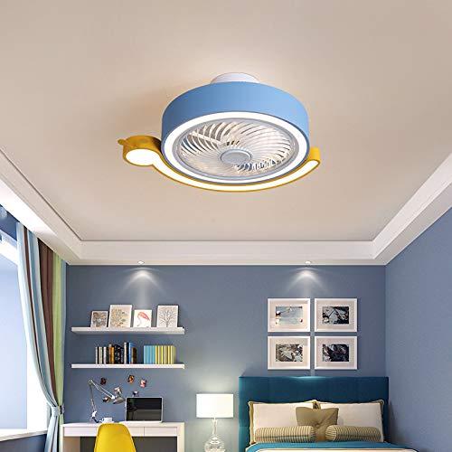 Ventilador De Techo Ultra Silencioso Luz Ventilador Techo Con Mando Luces Led Lámpara Techo Colgante Regulable Iluminación Interior Velocidad Del Viento Ajustable Dormitorio Lámpara Decorativa