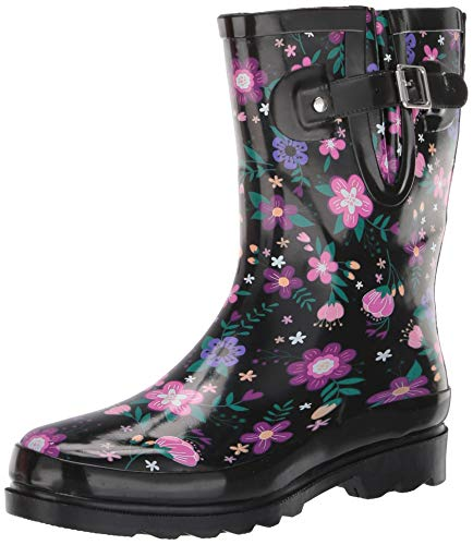Western Chief Women's mid-calf waterproof rain boots, Blossoming Mid, 7 M US