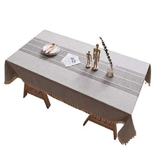 FEOYA Nappe Jardin Rectangulaire,Nappe de Table Rectangulaire Coton Lin Effet pour Décoration...