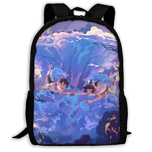 Laptop Anime Weathering with You Mochila Travel Bookbag Capacidad Ligero Papelería Bolso para niñas Niños Colegio Escuela Mujeres Hombres Oficina BAG-028