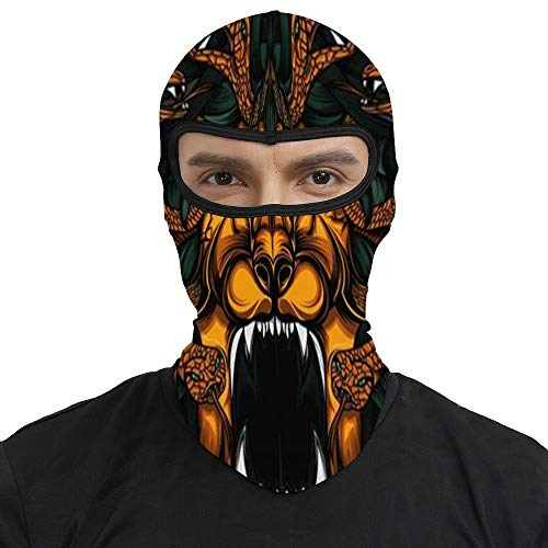 Summer Balaclava Ski Mask -Badass Lion, Men & Women Windproof Thermal Skullies Beanies Head Wrap Adjustable Neck Gaiter Protection for Snowboard Cycling Running
