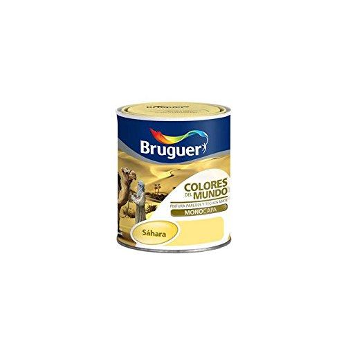 Bruguer-Pintura Colores del mundo Matiz de amarillo Sahara 750 ml