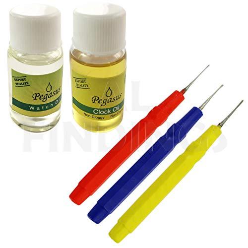 Jewellers Tools Uhren- und Uhröl + 3 Ölstifte: Schmiermittel Wartung Horologie Werkzeug (54)