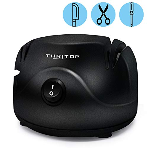 THRITOP 3 in 1 Electric Knife Sharpener Tool, Knife Sharpener System...