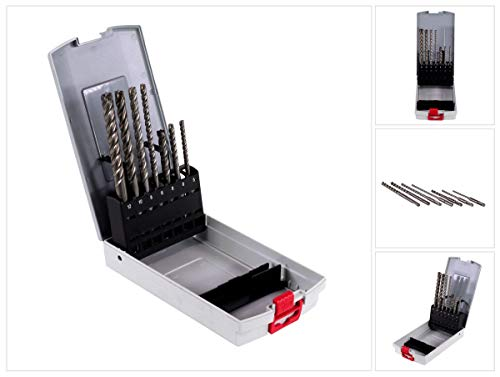 Bosch Professional 2607017502 7tlg. Hammerbohrer SDS plus-7X Set (für Beton und Mauerwerk, Ø 5/6/6/8/8/10/12 mm, Zubehör Bohrhammer)