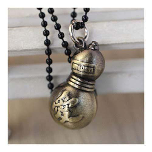 FKJSP Calabaza joyería Colgante Collar del Amor Modelo Colección de Cosplay (Metal Color : Naruto Bronze)
