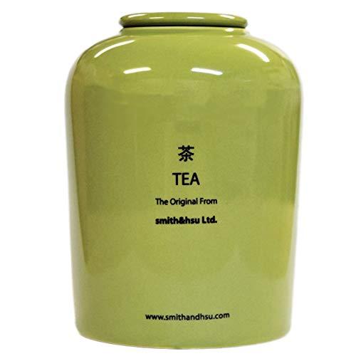 キャニスター 茶筒 陶磁器 陶器 密閉 保存容器 450ml コーヒー おしゃれ 紅茶 smith&hsu 大きい スミス&シュー シンプル ストッカー ギフト キッチン雑貨 茶葉入れ プレゼント 贈り物 茶筒,グラスグリーン