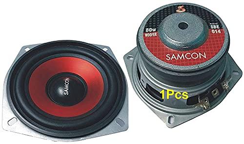 Belfin Woofer - Subwoofer 80 watt 4 inch for use Car, Speaker Box & Woofer Box (RED)