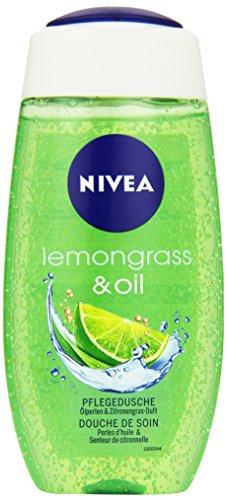 NIVEA Duschgel mit Pflegeöl-Perlen, Limonengras Duft, 250 ml Flasche, Lemongras & Oil