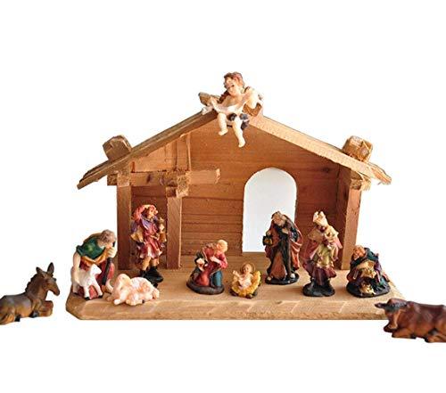 FMGOE Accessori per La Casa Statua Presepe Presepe, Scultura Presepe Religione Regalo Resina Artigianato Modello Gesù