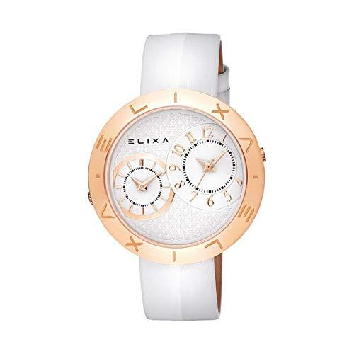 Elixa Reloj Analog-Digital para Womens de Automatic con Correa en Cloth S0318868