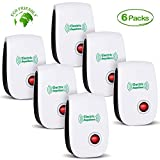2020 Newest Ultrasonic Electronic Pest Repellent, Pest Repeller Plug in Indoor Usage, Best Pest Repell to Bugs, Insects Mice, Ants, Mosquitoes, Spiders, Rodents and Roach(6 Packs)