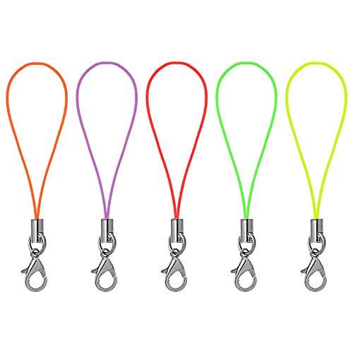 UKCOCO Cinghie per Cellulare, Confezione da 100 Lacci per Cellulare Cordini Portachiavi con moschettone per Disco USB, targhetta con Nome, ninnoli(Colore Casuale)