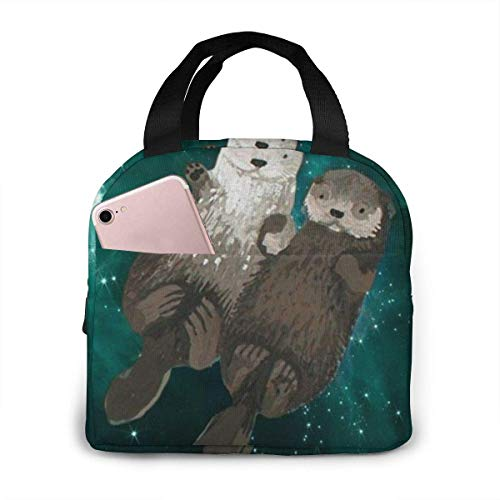 Portable Lunch Tote Bag Cute My Otter Half Lunch Bag Insulated Cooler Thermal Reusable Bag Lunch Box Handbag Bag