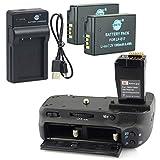 DSTE BG-E18 Apretón Batería + 2x LP-E17 Batería + USB Cargador para Canon EOS M3 750D 760D Rebel T6i T6s 8000D Kiss X8i