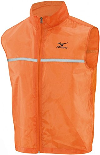 Gilet catarifrangenteMizuno da corsa, da uomo, arancione, Orange, XL