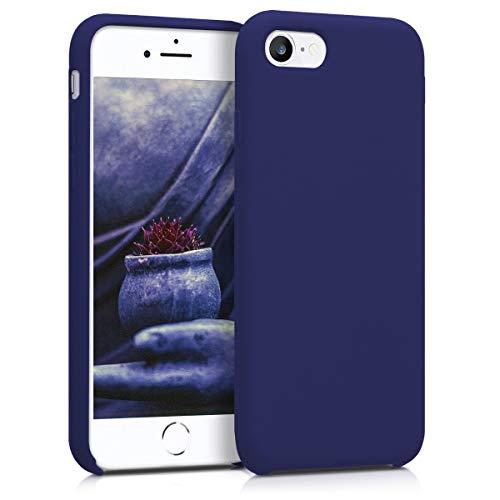 kwmobile Hülle kompatibel mit Apple iPhone 7/8 / SE (2020) - Handyhülle gummiert - Handy Case in Deep Blue Sea
