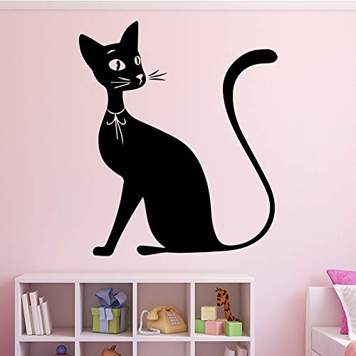 Tianpengyuanshuai Nette Katze Muster Wandaufkleber Mädchen Schlafzimmer Dekoration abnehmbare Vinyl Aufkleber wasserdichte Heimdekoration 69X81cm
