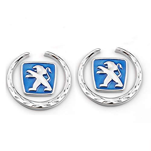 YEEXCD La Cola del Coche 3D de la Etiqueta engomada de la Insignia Posterior Arranque Emblema de la Insignia Encaja Peugeot,Azul