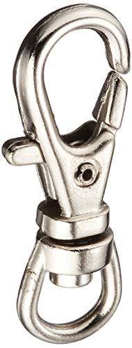 NBK バッグ用ナスカン 内径0.6x3.2cm シルバー 10個入 S27-21 手芸用品