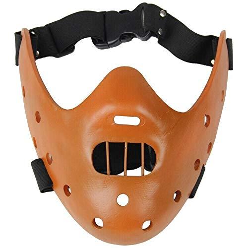 ABEQW Halloween Maske Halloween Horror Harz Maske Geburtstagsfeier, geeignet für Männer und Frauen-Braun