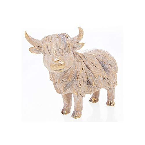 The Leonardo Collection Driftwood Effect Highland Cow Ornament
