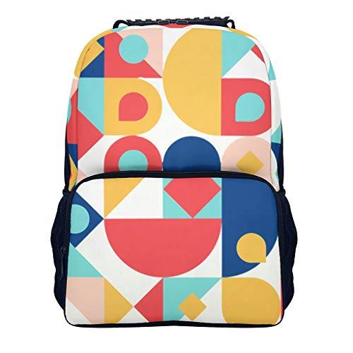 BTJC88 Mochila pequeña para niños, Color clásico, Retro, Fuerte, con Impresiones de Colores Impresas para Escalada y Senderismo, Blanco (Blanco) - BTJC88ce3