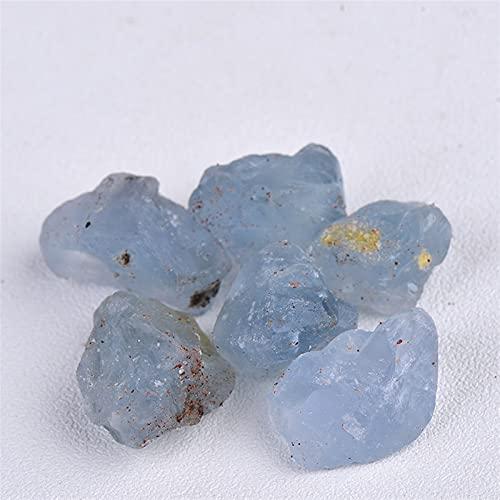 JSJJARF Piedra de Cristal 50 g Cristal Natural Pequeño Aquamarine Circlado Piedra triturada Piedra Curación de la joyería de Cristal Haciendo decoración del hogar o decoración del Acuario