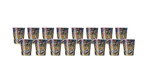 2735; pak 16 Harry Potter-glazen, kartonproduct; Ideaal voor feesten en verjaardagen.