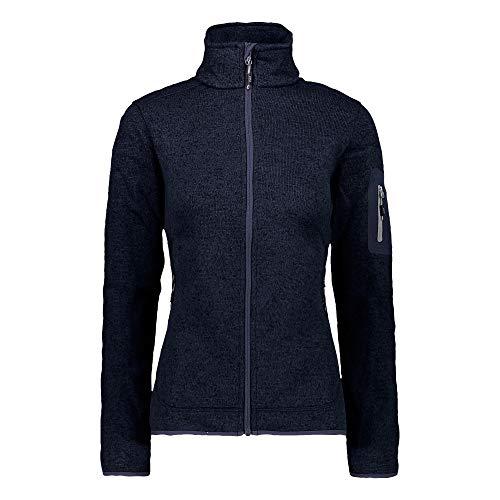 CMP – F.LLI Campagnolo Damen Knit Tech Polyester-Strickfleecejacke Fleecejacke, B.Blue-Grey, D38