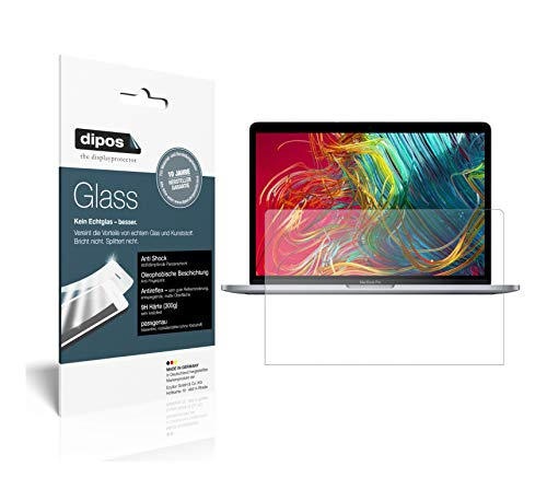 dipos I 2X Panzerfolie matt kompatibel mit Apple MacBook Pro 13 Zoll (2020) Schutzfolie 9H Displayschutz-Folie