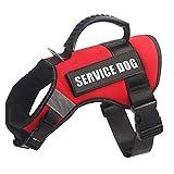 HuiTao Hundegeschirr, verstellbar, reflektierend, mit Griff, einfache Kontrolle, Sicherheitsgeschirr für kleine, mittelgroße und große Hunde, M, rot