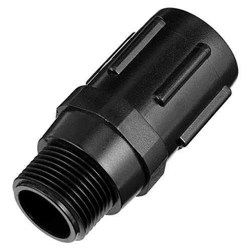 """VILLCASE - Regolatore di pressione dell'acqua da 3/4"""", regolatore da 25 psi, per sistema di irrigazione a goccia Farm Park Farm, colore: Nero"""