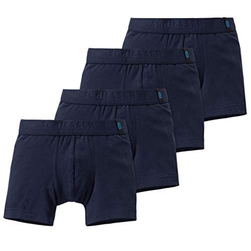 Schiesser - Kids Boys - 95/5 Shorts - Pants - 4er Spar-Pack (116 Nachtblau)