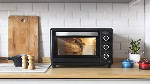 Cecotec Bake&Toast 650 Gyro - Horno Conveccion Sobremesa, capacidad de 30 litros, 1500 W, 5 Modos, Temperatura hasta 230ºC y Tiempo hasta 60 Minutos