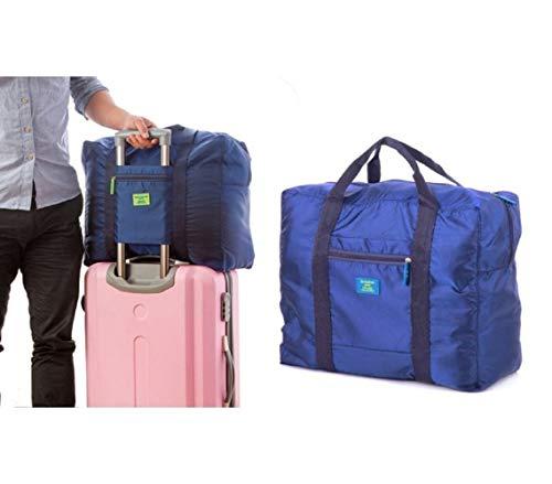 2791 Borsone bagaglio a mano pieghevole impermeabile con supporto da trolley. MWS (Blu)