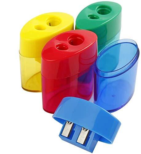 Pencil Sharpener, Sharpener for Pencils, Pack of 12, Pencil Sharpener Manual, 2 Holes, Pencil Sharpener for Kids, Colored Pencil Sharpener, Pencil Sharpener Handheld, Art Pencil Sharpener