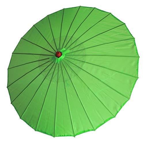 AAF Nommel ® Deko- Sonnenschirm aus Holz in grün, einfarbig transparent, 102
