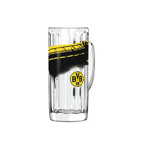 Borussia Dortmund, BVB-Bierglas mit Südtribüne (0,5l), Schwarz / Gelb, 0