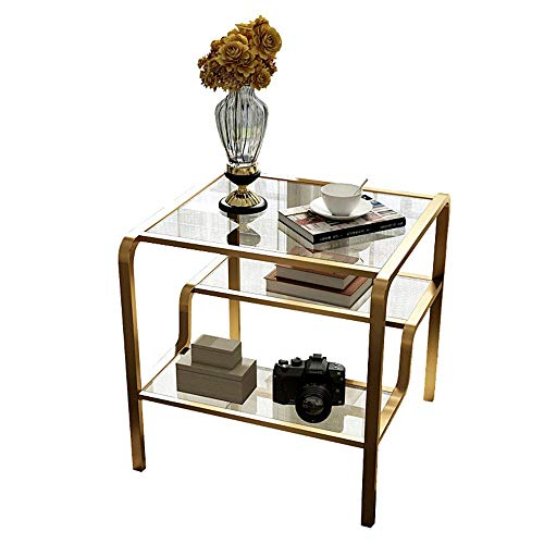 MICEROSHE Home Side Table Mini Coffee Table Bedside Table Mobile Snack Table Furniture Decoration Home Bedroom Living Room Easy To Assemble Stable and Stylish (Color : A, Size : 60X60X55CM)
