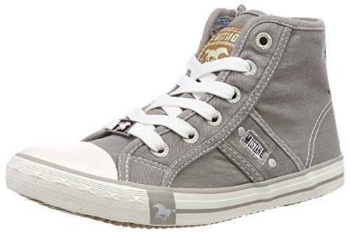 MUSTANG Unisex-Kinder 5803-503-932 Hohe Sneaker, Grau (Silbergrau 932), 29 EU