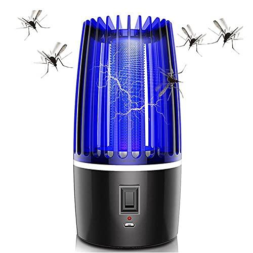 ZEREA Lámpara LED para asesino de mosquitos, lámpara UV para acampar, trampa de atracción de plagas, recargable por USB, portátil, 4000 mAh, funciona con mosquitos, para exteriores e interiores