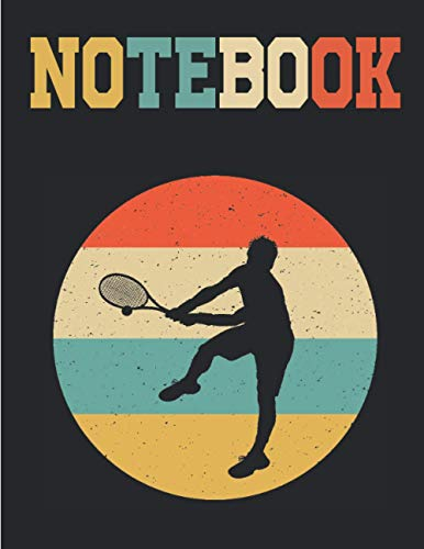 NOTEBOOK: Vintage Retro Tennis Sport |Graph Paper Composition Notebook, Grid Paper Notebook, Quad Ruled, 120 Sheets (Large, 8.5 x 11) daily graph or Maths Notebook